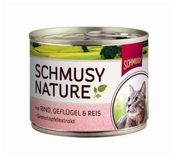 SCHMUSY Natures Menü Rind, Geflügel & Reis 12 x 190 g