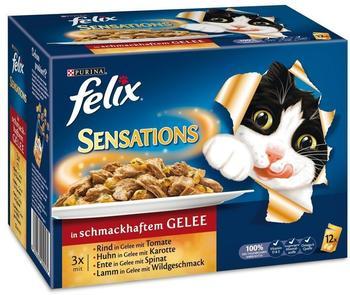 Felix Sensations Fleisch in Gelee 12 x 100 g