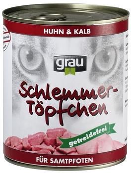 Grau Schlemmer-Töpfchen Pute & Lamm 6 x 800 g