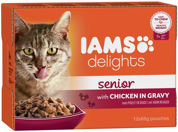 IAMS Delights Senior mit Huhn in Sauce 12 x 85 g