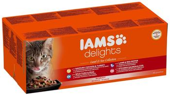Iams Delights Land & Sea in Sauce 48 x 85 g