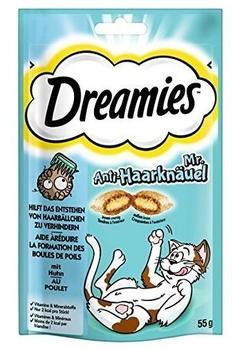 Dreamies Katzensnack Mr. Anti-Knäuel 6 x 55 g)