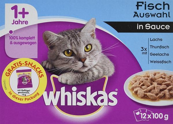 Whiskas 1+ Frischebeutel: 12 x 100 g