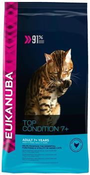 Eukanuba Cat Senior Top Condition 7+, Trockenfutter für ältere Katzen, Premiumfutter mit viel Huhn, 1 Beutel (1 x 10 kg)