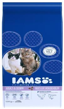 Iams Pro Active Health Adult Multi-Cat Household 15 kg