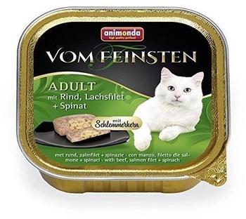 animonda Vom Feinsten Schlemmerkern Rind, Lachsfilet & Spinat 32 x 100 g