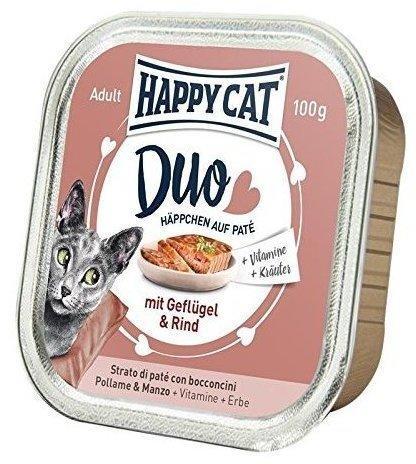 Happy Cat Duo Geflügel & Rind 12 x 100 g