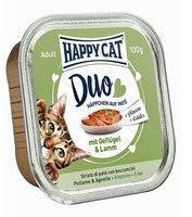 Happy Cat Duo Paté auf Häppchen Geflügel & Lamm - 12x 100 g