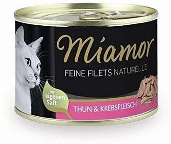 Miamor Feine Filets Naturelle & Krebsfleisch 24 x 156g Dose Katzennassfutter