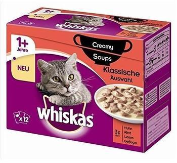 Whiskas 1+ Creamy Soups Klassische Auswahl 12 x 85 g