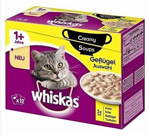 Whiskas 1+ Creamy Soups Geflügelauswahl 12 x 85 g