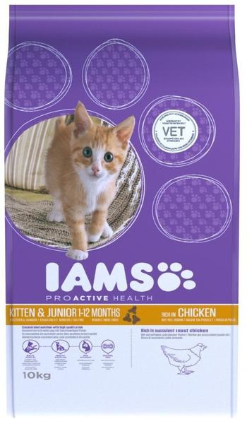 Iams Kitten & Junior Huhn - 10kg