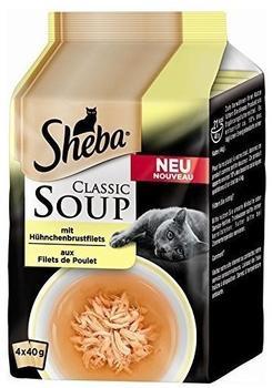 Sheba Classic Soup 4er Multipack mit Hühnchenbrustfilet 4x40g