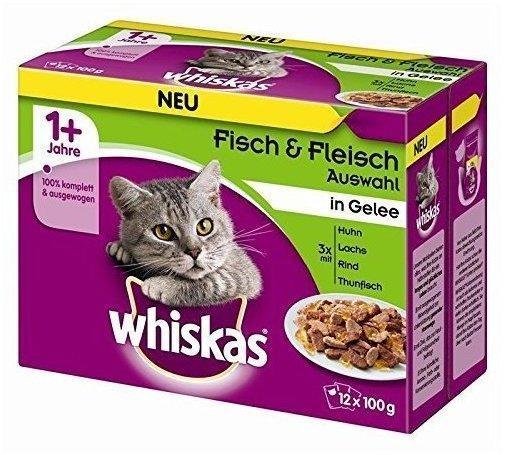 Whiskas 1+ Fisch- & Fleischauswahl in Gelee 12 x 100g
