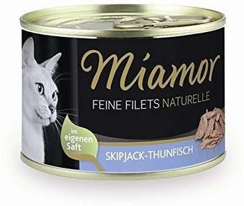 Miamor Feine Filets Naturelle Skipjack-Thunfisch 24 x 156g Dose Katzennassfutter