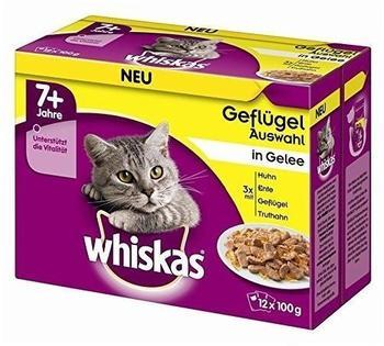 Whiskas 7+ Geflügelauswahl in Gelee 12x100g