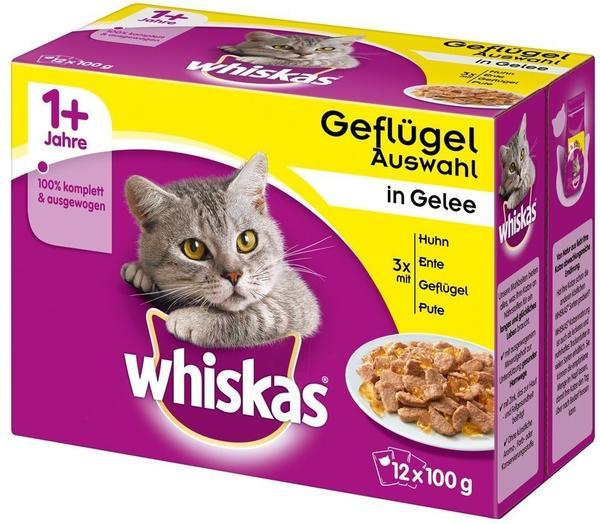 Whiskas 1+ Geflügelauswahl in Gelee 40 x 100 g