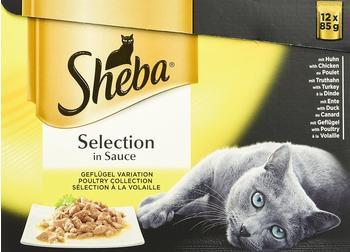 Sheba Selection in Sauce Huhn/Truthahn/Ente/Geflügel 48 x 85 g