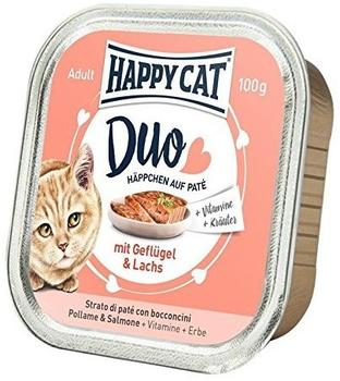 HAPPY CAT Adult Duo Geflügel & Lachs 12 x 100 g