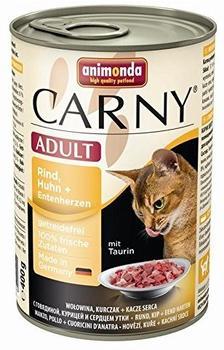 animonda Carny Adult Rind, Huhn & Entenherzen 6 x 400 g