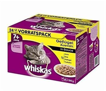 Whiskas 7+ Geflügelauswahl in Sauce 24x100g