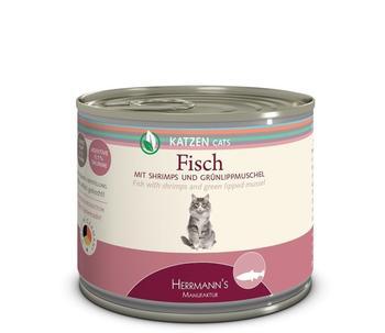 HERRMANNS Herrmanns | Fisch mit Shrimps und grünlippmuschel, 12er Pack (12 x 200 g)