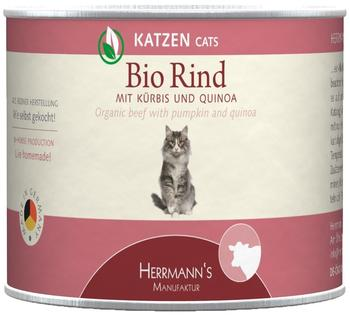 HERRMANNS Bio-Rind mit Kürbis 6 x 200 g
