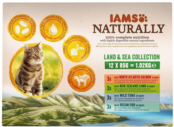 IAMS Naturally Cat Adult Mix & 24 x 85 g