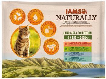 Iams Naturally Land & Sea Collection 4 x 85 g