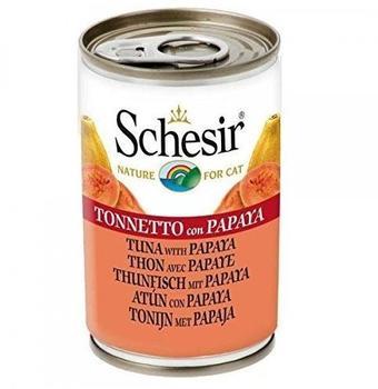 Schesir Cat Thunfisch mit Papaya, 6er Pack 6 x 140 g)