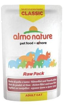almo nature Classic Raw Pack Huhn und Thunfischfilet - 24x55g