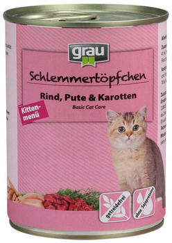 Grau Schlemmertöpfchen Kitten (400 g)