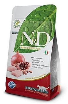 Farmina Pet Foods Farmina N&D Katzenfutter Huhn&Granatapfel Adult Getreidefrei & Granatapfel, Trockenfutter