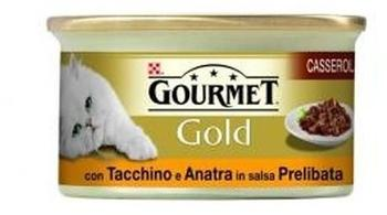 Gourmet Gold Ente & Pute in braune Souce 85 g