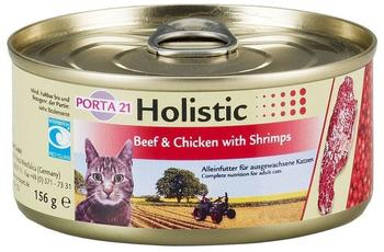 Schulze Feline Porta 21 Holistic Rind & Huhn mit Shrimps 6 x 156g