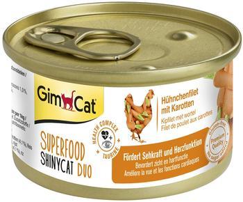 gimcat-superfood-shinycat-duo-huehnchenfilet-mit-karotten-24x70g