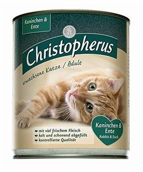 Allco 6 x 800g Christopherus Cat Dose Kaninchen & Ente