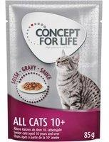 Concept for Life 48 x 85 g Concept for Life All Cats 10+ in Soße - Katzenfutter Nass