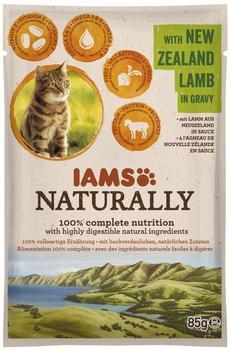 Iams Naturally Lamm, 85 g)