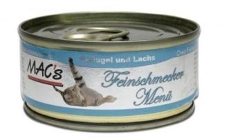 MACs MAC's Cat Feinschmecker 24 x 100 g - Lachs 100g Dose(UMPACKGROSSE 6