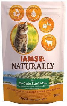 IAMS Naturally Katze Trockenfutter Adult Lachs & Reis) - 270g