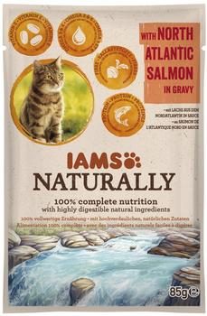 IAMS Naturally Lachs, 85 g)