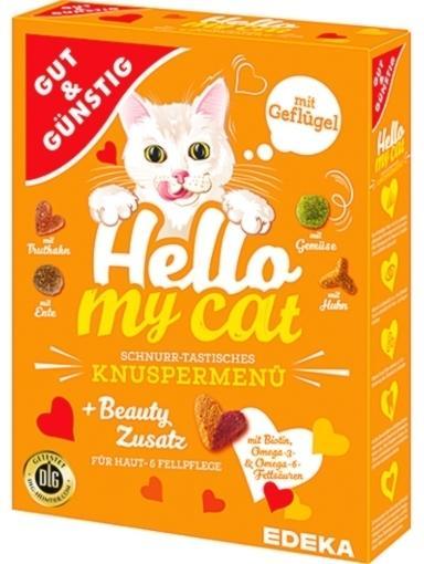 Edeka Gut & Günstig Hello my cat Knuspermenü mit Geflügel