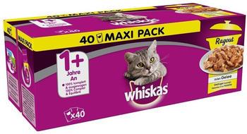 Whiskas Multipack Variationen mit Geflügel in Gelee 40x85g