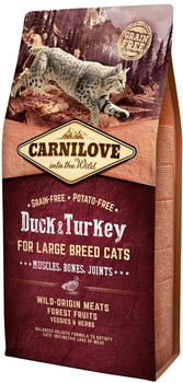 Carnilove Duck & Turkey For Large Breed Cats 6kg