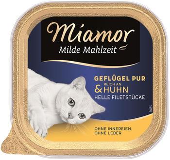 Miamor Milde Mahlzeit Geflügel pur & Huhn 100g