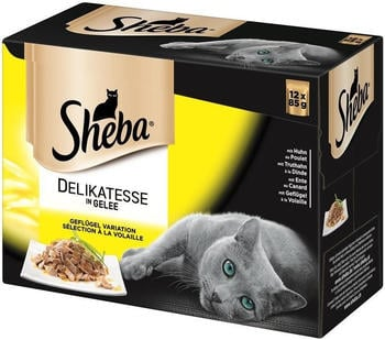 Sheba Multipack Delikatesse in Gelee Geflügel Variation 12 x 85g