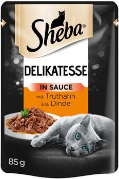 Sheba Delikatesse in Sauce mit Truthahn Portionsbeutel 85g
