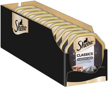 Sheba Classics in Pastete mit Kalb und Huhn 22 x 11 x 85g