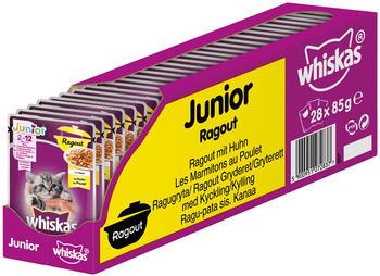 Whiskas Portionsbeutel Junior Ragout in Gelee mit Huhn 28 x 85g